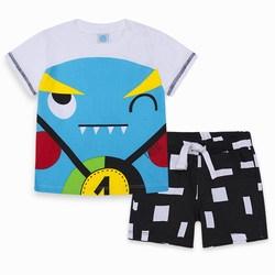 Completo Due Pezzi Jersey Azzurro Funny Games Abbigliamento