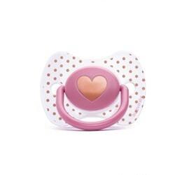 Succhietto fisiologico haute Couture rosa 0-4 m succhietti
