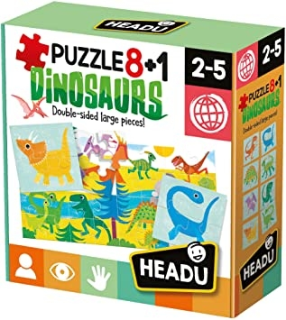Puzzle 8+1 Dinosaurs Giochi