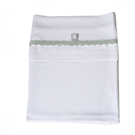 Lettino Bedsheet Baby col. Crochet Green Lenzuolini