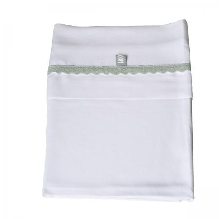 Lenzuolino Carrozzina Bedsheet Cradle  Crochet Olive Green Lenzuolini