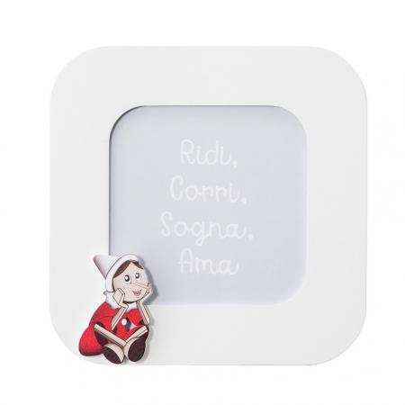 Mendozzi Cornice 17,5x17,5 Pinocchio Rosso Portafoto