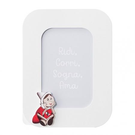 Mendozzi Cornice 20,6x15,6 Pinocchio Rosso Portafoto