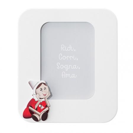 Mendozzi Cornice 25x22 Pinocchio Rosso Portafoto