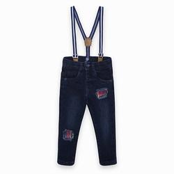 Tuc Tuc Pantaloni Jeans Con Bretelle School Of Art Abbigliamento