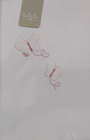 Lalalù Copertina Jersey Neonata Farfalle Copertina