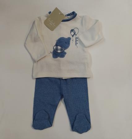 Lalalù Completo due Pezzi Bluette Abbigliamento