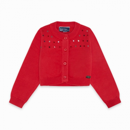 Tuc Tuc Cardigan Rosso Abbigliamento