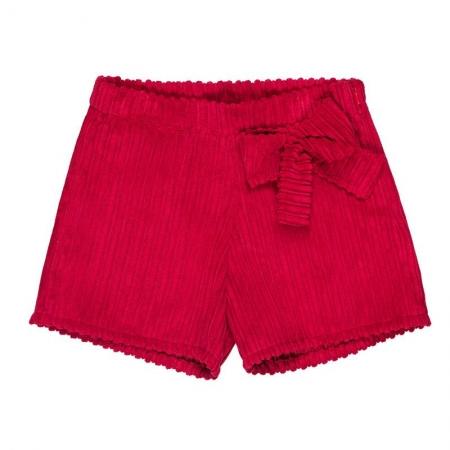 Nanan Pantaloncino Velluto Rosso Abbigliamento