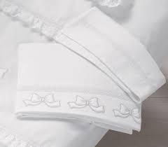 Lenzuolino Lettino Elegant Bianco/Argento Lenzuolini